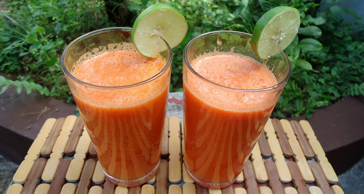 a cup of carrot juice a day